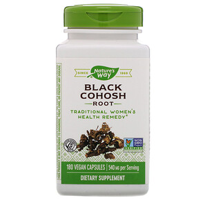 Натурес Вэй, Black Cohosh Root, 540 mg, 180 Vegan Capsules отзывы