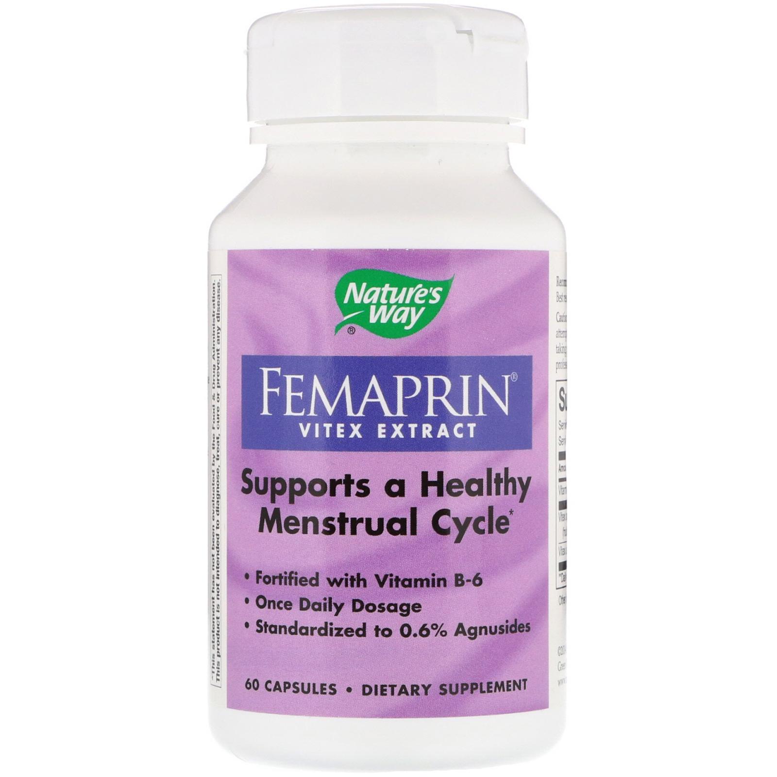Nature's Way, Femaprin, Vitex Extract, 60 Capsules - iHerb com