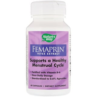 Nature's Way, Femaprin, extracto de vitex, 60 cápsulas