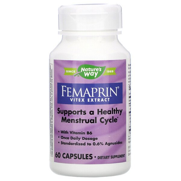 Nature's Way, Femaprin, Extrait de vitex, 60 Gélules