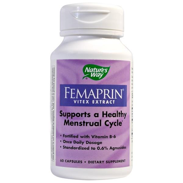 Nature's Way, Femaprin, Vitex Extract, 60 Capsules