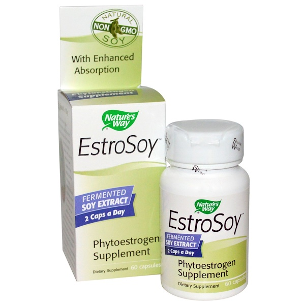 Nature's Way, EstroSoy, Phytoestrogen Supplement, 60 Capsules (Discontinued Item)