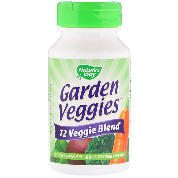 Nature's Way, Garden Veggies, 60 Vegetarian Capsules