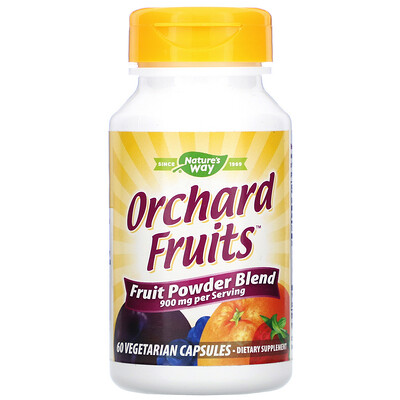 Nature's Way Orchard Fruits, Fruit Powder Blend, 900 mg, 60 Vegetarian Capsules