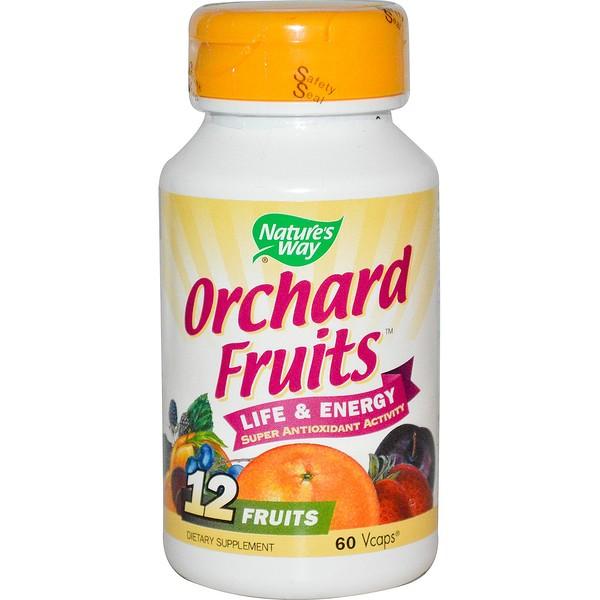 Nature's Way, Orchard Fruits, 12 Fruits, 60 Veggie Caps
