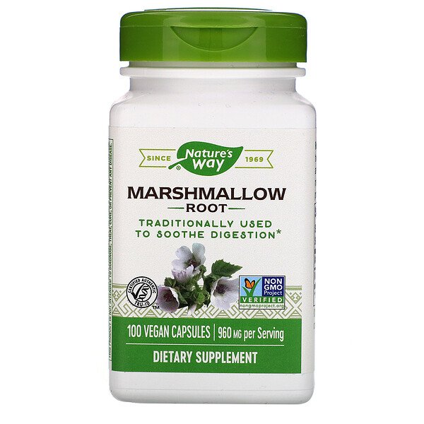 Marshmallow Root, 960 mg, 100 Vegan Capsules