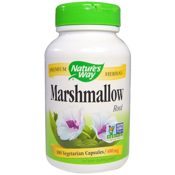 Nature's Way, Marshmallow Root, 480 mg, 100 Veggie Caps