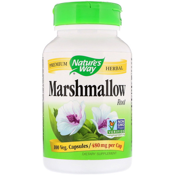 Nature's Way, Raíz de malvavisco, 480 mg, 100 cápsulas vegetales Cápsulas