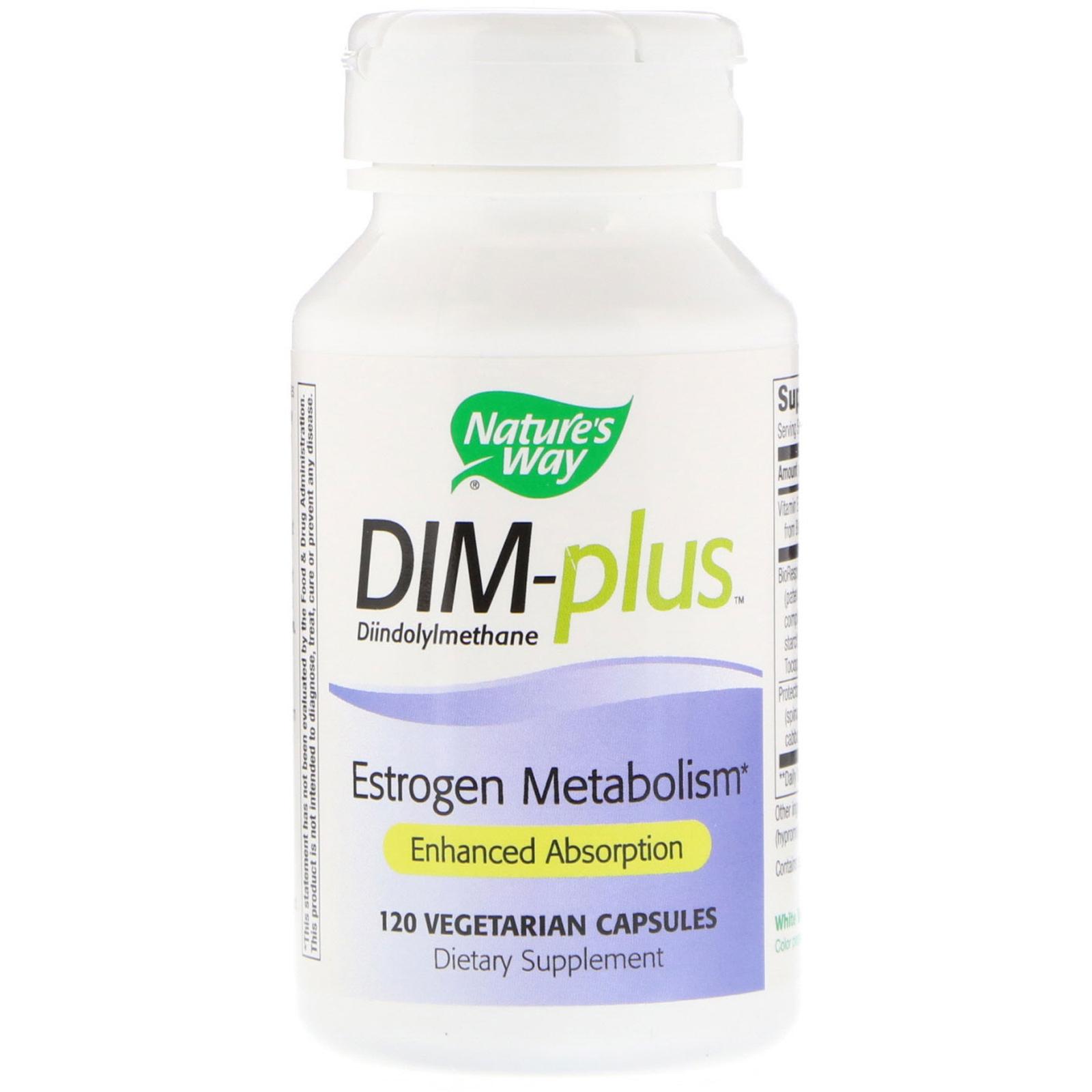 Nature's Way, DIM-plus, Estrogen Metabolism, 120 Vegetarian Capsules