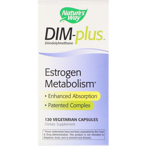 Nature's Way, DIM-plus, Metabolismo Estrogênico, 120 Cápsulas Vegetais