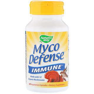 Nature's Way, Myco Defense,抵抗,60粒植物膠囊