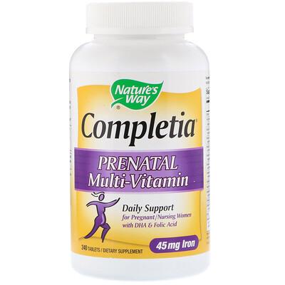 Completia, мультивитаминный комплекс для беременных, 240таблеток
