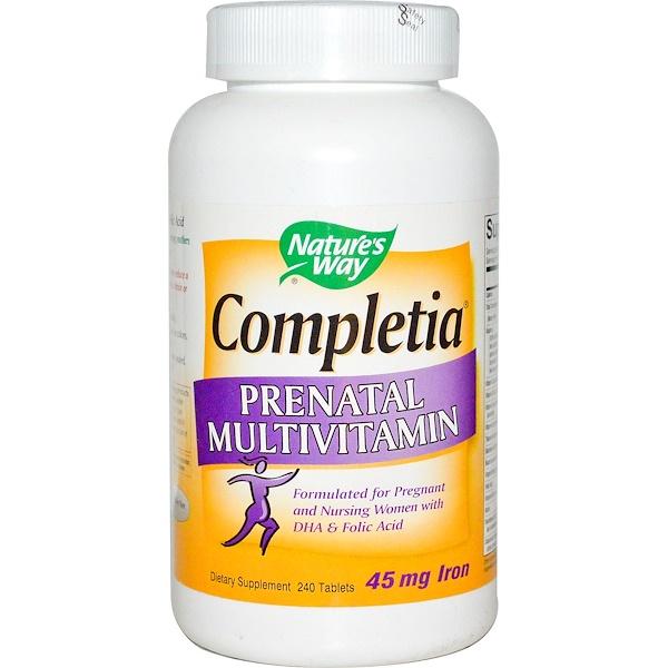 Nature's Way, Completia Prenatal Multivitamin, 240 Tablets