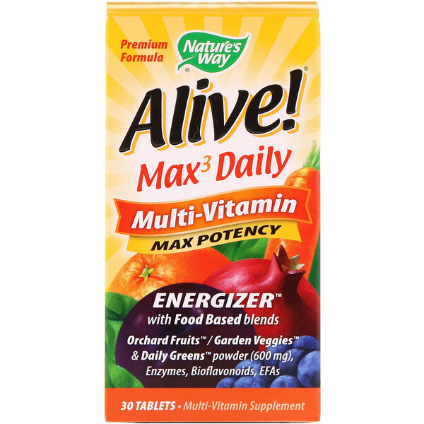 Alive!, Max3 Daily Multi-Vitamin, 30 Tablets