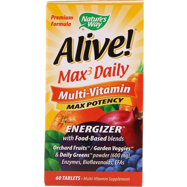 Nature's Way, Alive! Max3 Daily, Multi-Vitamin, 60 Tablets
