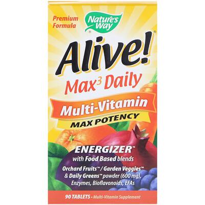 Живой! Max3 Daily, мультивитамины, 90 таблеток alive max3 daily мультивитамины для мужчин 90таблеток