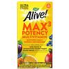 Nature's Way, Alive! Max3 Potency, мультивитамины повышенной эффективности, без добавления железа, 30таблеток