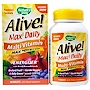 Nature's Way, Alive! Max3 Daily Multi-Vitamin, No Iron Added, 90 Tablets