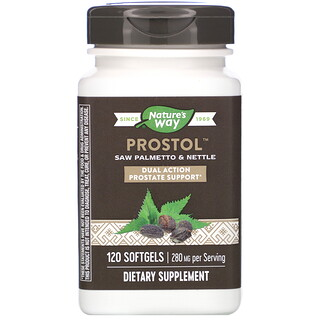 Nature's Way, Prostol, Saw Palmetto & Nettle, 280 mg, 120 Softgels