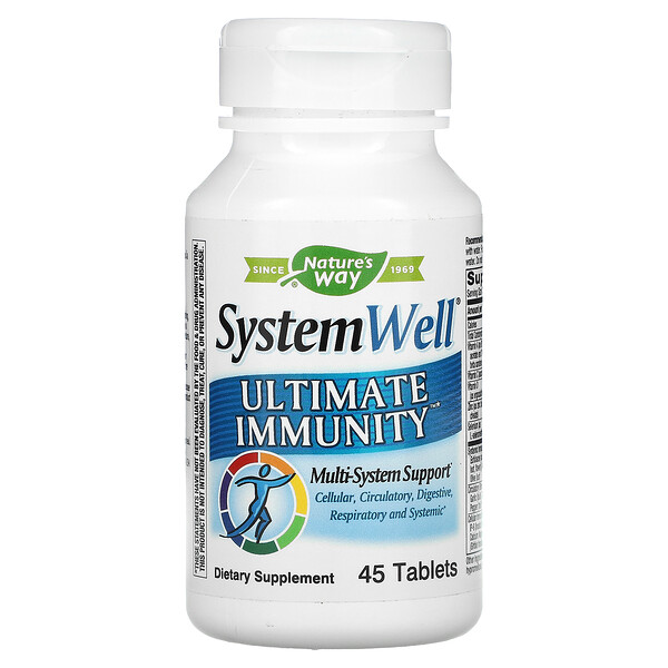 Nature's Way, System Well, Ultimate Immunity, 45 Tablets