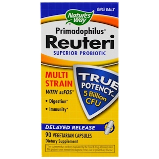 Nature's Way, Primadophilus Reuteri, Superior Probiotic, 90 Veggie Caps