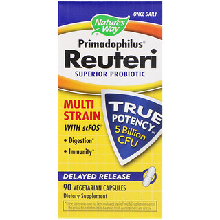 Nature's Way, Primadophilus Reuteri, Superior Probiotic, 90 Vegetarian Capsules