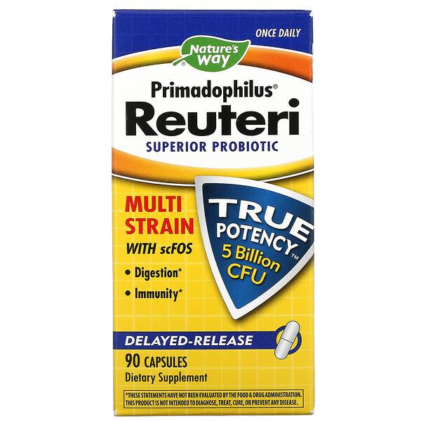 Primadophilus Reuteri,超级益生菌,50 亿 CFU,90 粒素食胶囊
