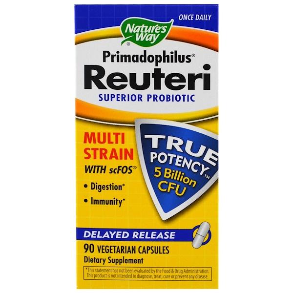 Nature's Way, Primadophilus Reuteri, Superior Probiotic, 90 Veggie Caps