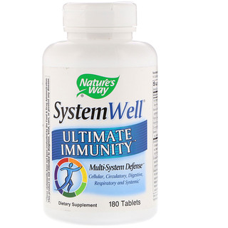 Nature's Way, System Well, Ultimate Immunity, 180 Tablets
