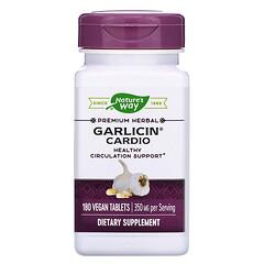 Nature's Way, Garlicin® 心臟健康純素食營養片,350 毫克,180 片裝
