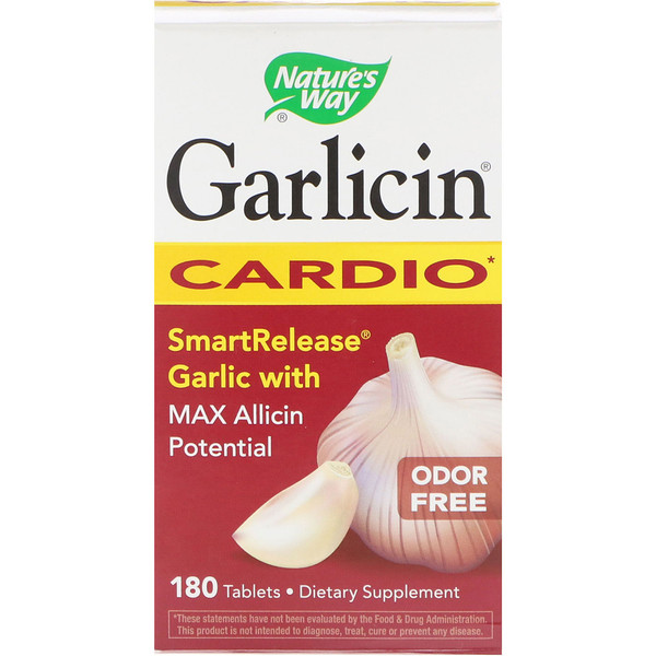 Nature's Way, Garlicin, Cardio, Odor Free , 180 Tablets