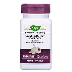 Натурес Вэй, Garlicin Cardio, 350 mg, 180 Vegan Tablets отзывы покупателей