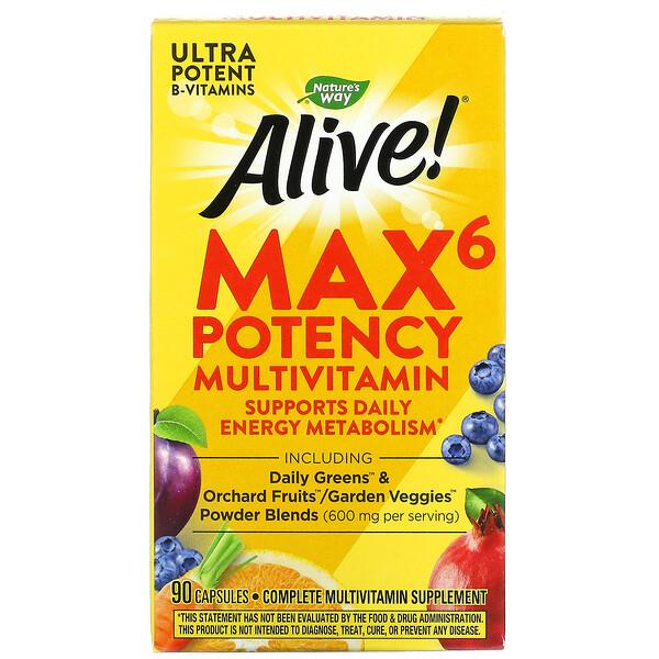 Alive! Max6 Potency Multivitamin, 90 Capsules