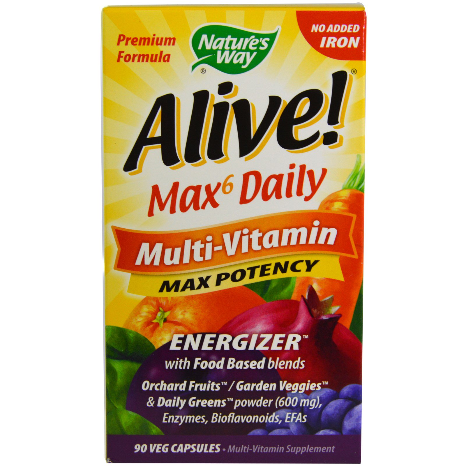naturens måde i live fuld mad energizer multivitamin maks potency