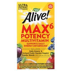 Nature's Way, Alive! Max6 優效多維生素,不添加鐵,90 粒膠囊