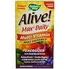 Nature's Way, Alive! Max6 Daily, マルチビタミン, 最大限の効能, 90菜食主義者対応カプセル