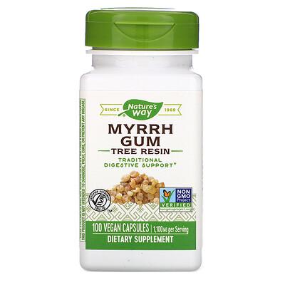 Купить Myrrh Gum, Tree Resin, 1, 100 mg, 100 Vegan Capsules