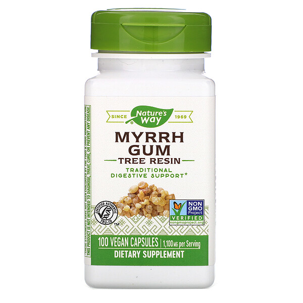 Myrrh Gum, Tree Resin, 1,100 mg, 100 Vegan Capsules