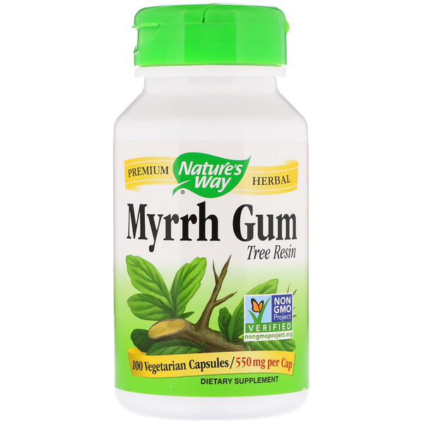 Nature's Way, Myrrh Gum, Tree Resin, 550 mg, 100 Vegetarian Capsules