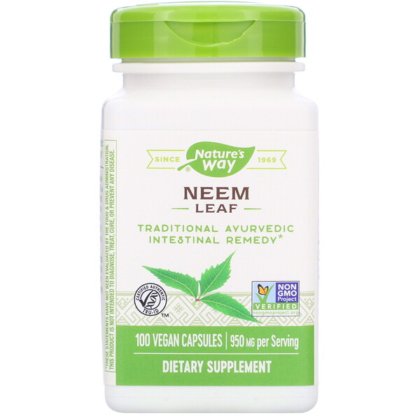 Neem Leaf, 950 mg, 100 Vegan Capsules