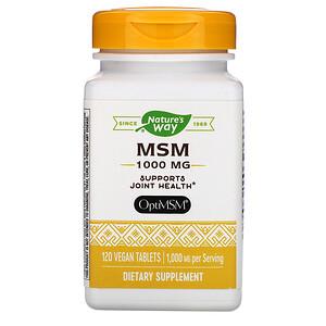 Натурес Вэй, MSM, 1,000 mg, 120 Vegan Tablets отзывы