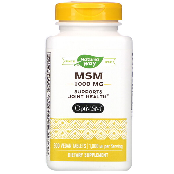 MSM, 1,000 mg, 200 Vegan Tablets