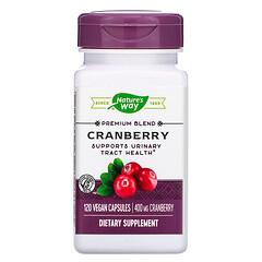 Nature's Way, 蔓越莓,400 毫克,120 粒全素膠囊