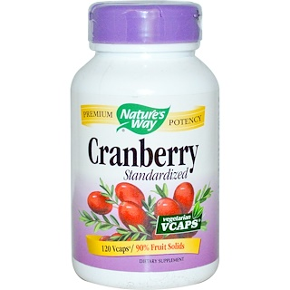 Nature's Way, Cranberry, Standardized, 120 Veggie Caps