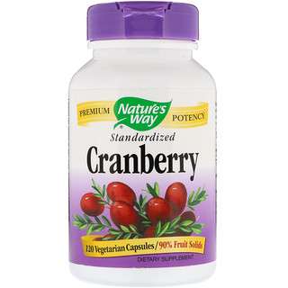Nature's Way, Cranberry, Standardized, 120 Vegetarian Capsules