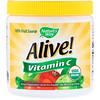 Nature's Way, Alive!、フルーツソース、ビタミンC、ドリンクミックスパウダー、4.23オンス (120 g)