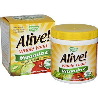Nature's Way, Alive! Vitamin C, Powder, 120 g
