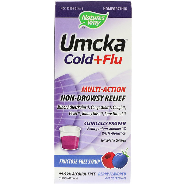 Nature's Way, Umcka Cold+Flu, Berry Flavor, 4 oz (120 ml)