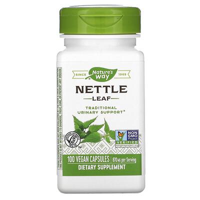 Natures Way Лист крапивы, 870 мг, 100 веганских капсул