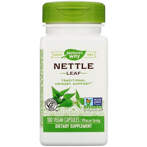 Nettle Leaf, 870 mg, 100 Vegan Capsules